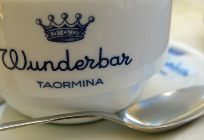 Cafe Wunderbar Taormina Sicily travel photo by David J Rodger - coffee cup and spoon