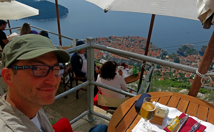 David J Rodger above Dubrovnik - take the cable car to the napoleonic fort, great place to spend time and amazing views