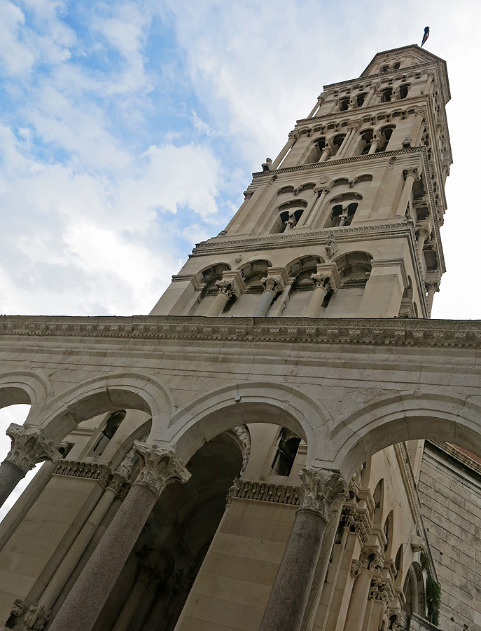 Diocletian's palace - Split - Croatia Travel photo by David J Rodger - cathedral tower