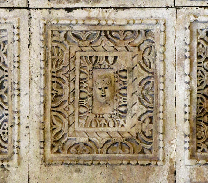 Diocletian's palace - Split - Croatia Travel photo by David J Rodger - ceiling insideTemple of Jupiter - detail