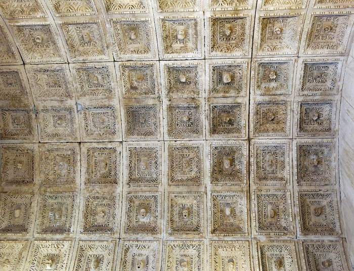 Diocletian's palace - Split - Croatia Travel photo by David J Rodger - ceiling insideTemple of Jupiter