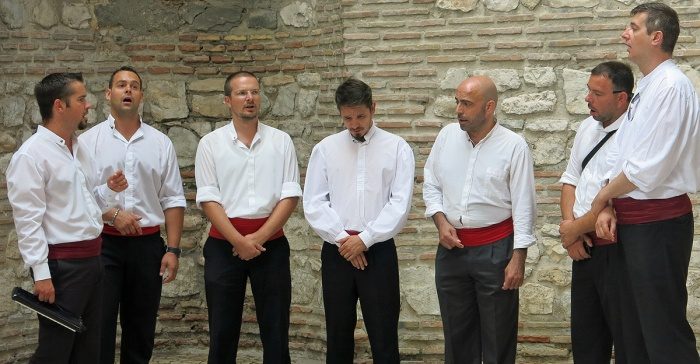 Diocletian's palace - Split - Croatia Travel photo by David J Rodger - Traditional Croatian Klapa singers