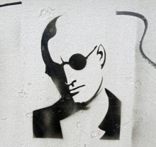 graffiti stencil work at NDSM Amsterdam - Natural Born Killer - photo by David J Rodger