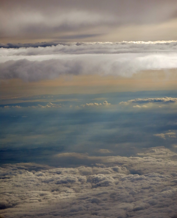 incredible sky over Europe view of different cloud layers photo by David J Rodger
