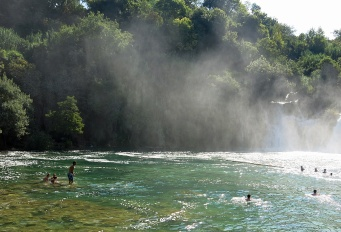 Krka National Park - Croatia Travel Photo by David J Rodger - mist drifts away from falls
