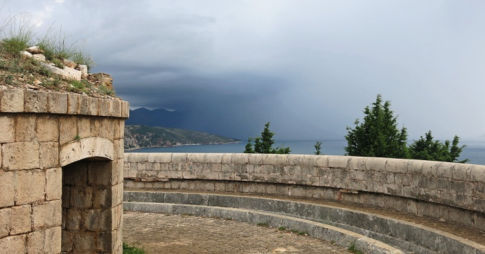 Lokrum Island - Croatia Travel Photo by David J Rodger - storm front rolling in medieval fort as shelter