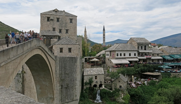 Mostar - Bosnia Travel photo by David J Rodger - restored bridge
