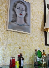Notting Hill mansion - interior - drinks and Kate Moss - image David J Rodger