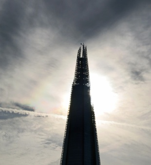 Pure London Sci-Fi The Shard towards Sunset - photo by David J Rodger - please credit if used