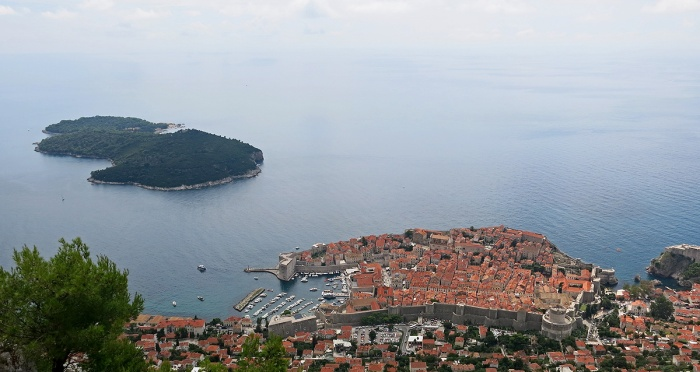 View of Dubrovnik with Lokrum island in distance - photo by David J Rodger