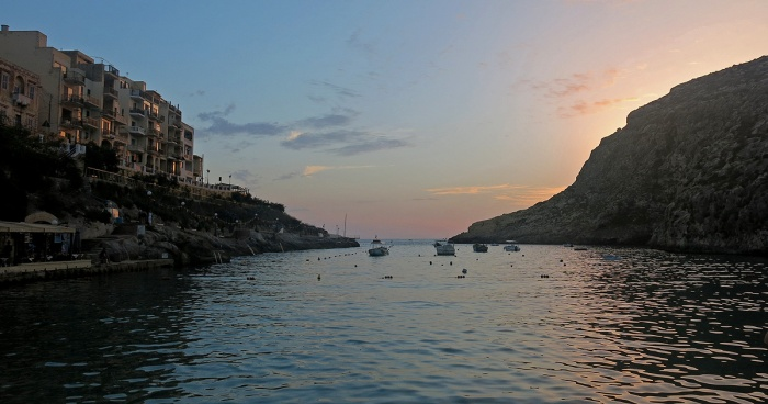 Xlendi - Gozo  Travel Photo by David J Rodger - the bay at sunset