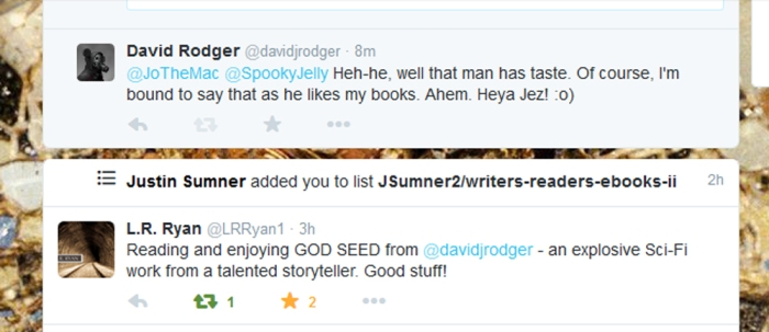 fan feedback on sci-fi cyberpunk thriller with heavy flavour of Cthulhu Mythos - God Seed by David J Rodger