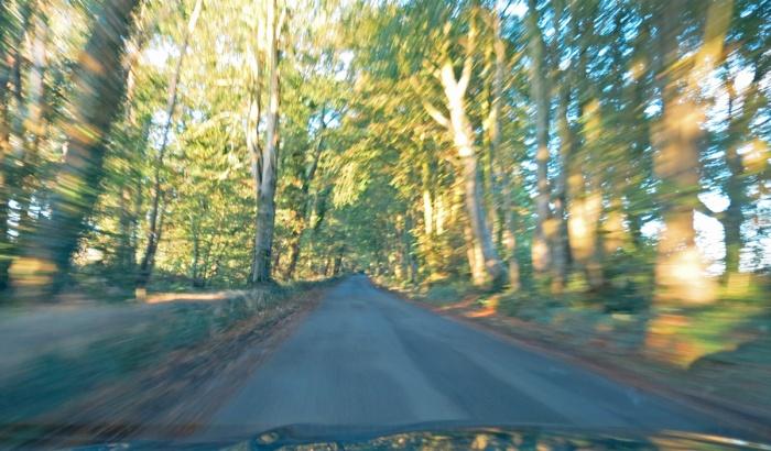 blasting through English country roads - image David J Rodger