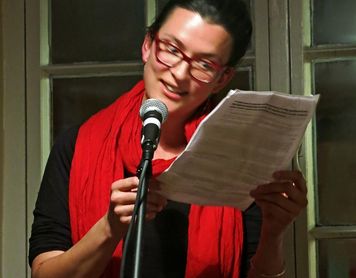 Clare Eddington reads MINGE a true story at Small Stories Bristol November 2014