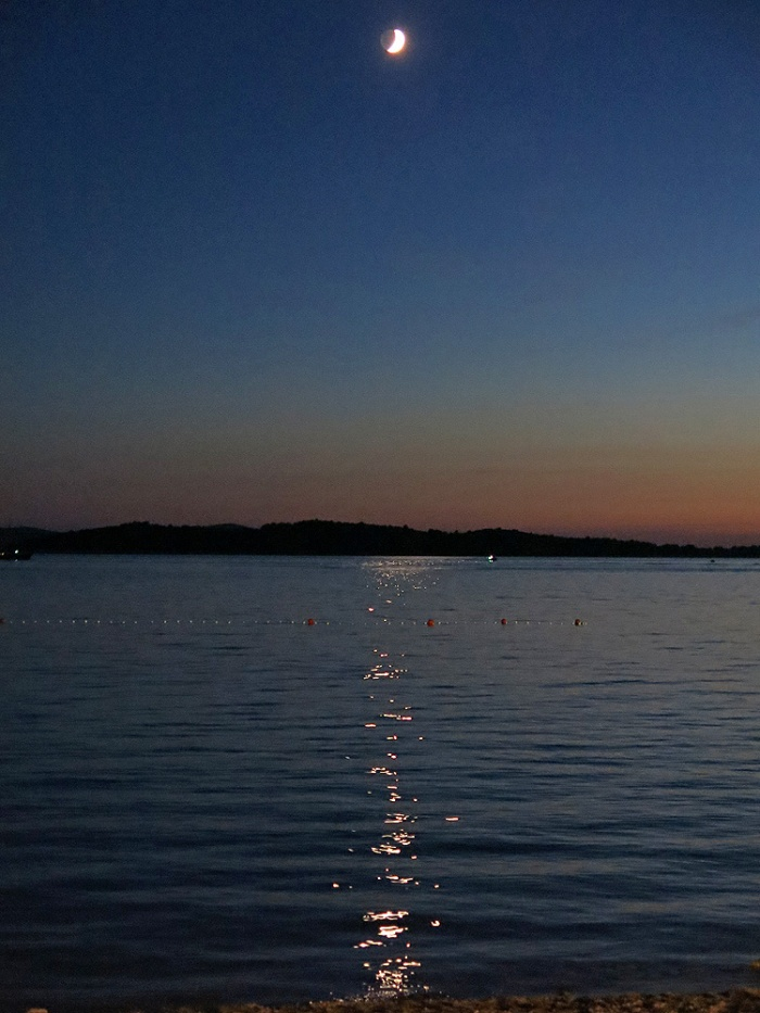 Croatia - Vodice - Travel photo by David J Rodger - moonlight over Adriatic water