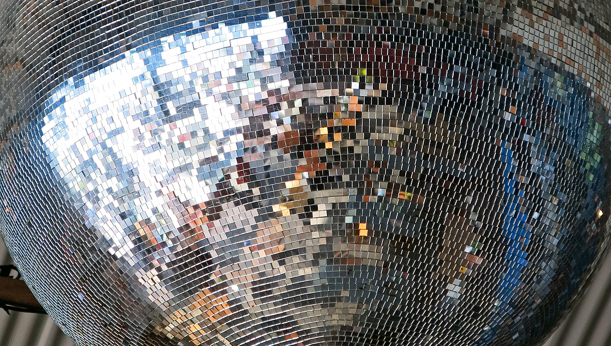 disco ball view - reflections in a cafe Amsterdam photo by David J Rodger