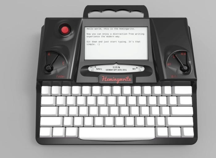 Hemingwrite high-tech low hassle portable writing device - amazing technology made simple