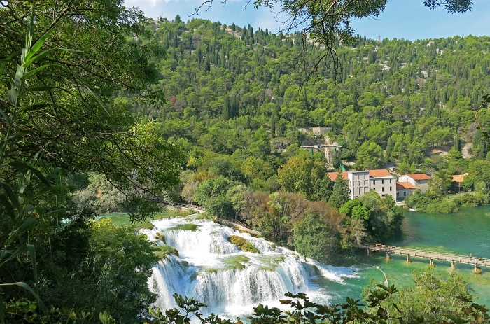 Krka National Park - Croatia Travel Photo by David J Rodger - overview of cascading waterfalls
