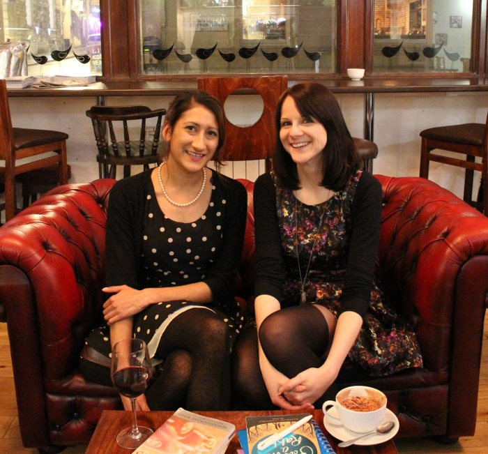 Natalie Burns and Sian Wadsworth who run and organise Small Stories a monthly event for Bristol writers