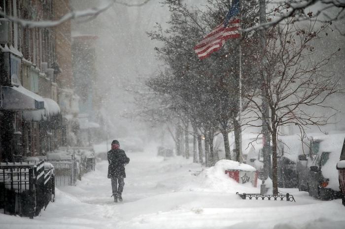 Brooklyn NY in the snow
