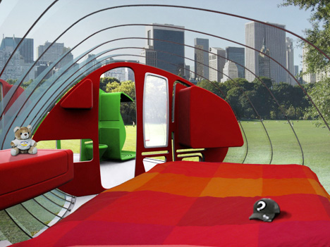 inside space ship house mobile home for the future - designers Stephanie Bellanger, Amaury Watine, François Gustin & David Dethoor