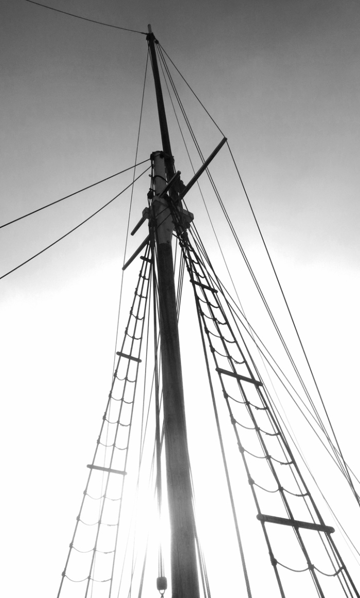 Tall ship mast and rigging photo by David J Rodger