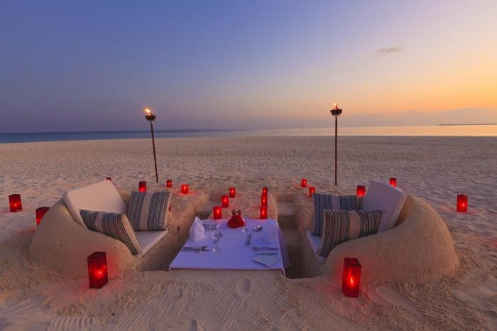 My idea of fun sand castle dinner