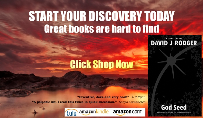 God Seed by David J Rodger best sci fi cyberpunk good book to read horror and Cthulhu Mythos from LULU Amazon and Kindle