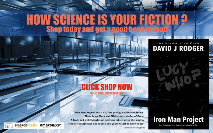 Iron Man Project by David J Rodger  cyberpunk thriller good book to read from LULU Amazon books and Kindle online books