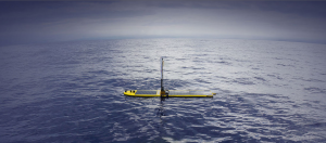 Liquid Robotics Wave Glider SV3 unmanned autonomous marine robots use the ocean waves for energy