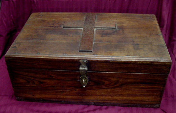 19th Century Vampire Hunter Kit Walnut Wood Case