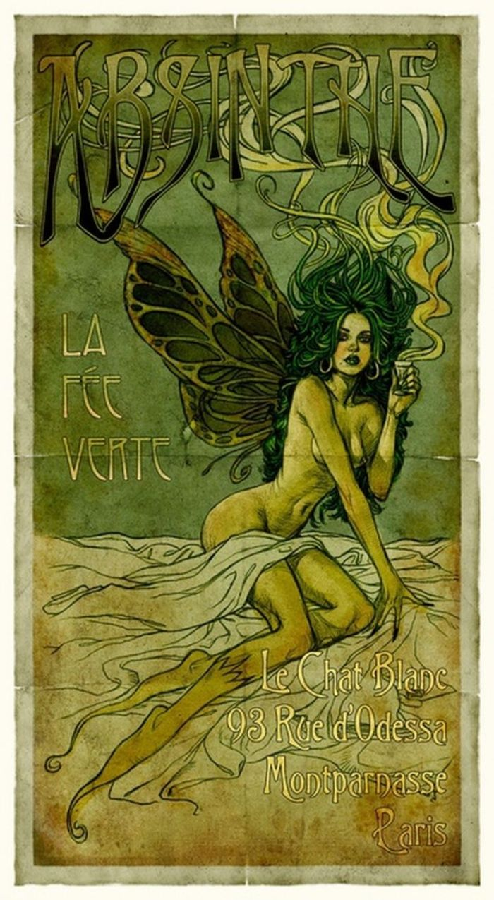 Absinthe - the green menace - hallucinations and murder - portal to the Cthulhu Mythos