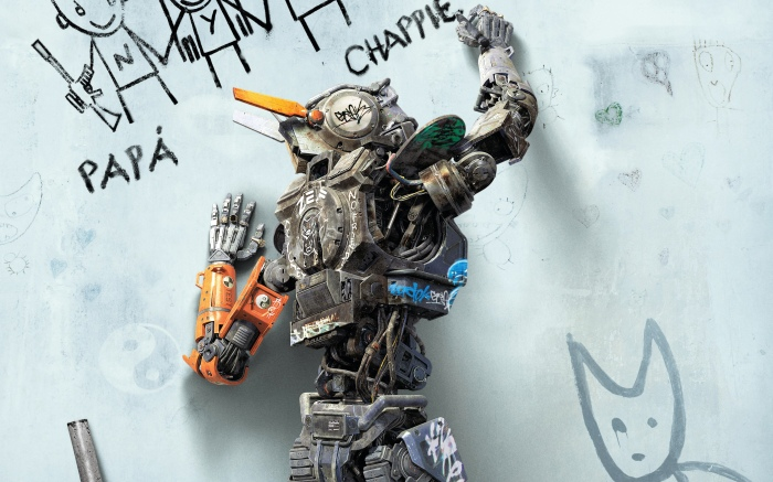 CHAPPiE a movie by director writer producer Neill Blomkamp - fan review amazing sci fi technology that explores the very idea of consciousness as a mirror reflecting our humanity or lack of it
