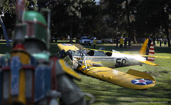 Harrison Ford plane crash did boba fett and the empire try to bring down Han Solo - Star Wars in a parallel universe