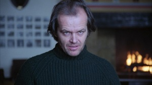 Jack Nicholson in The Shining - going mad writing