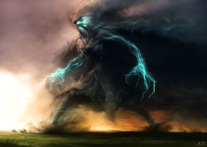 Cthulhu Mythos Great Old One Ithiqua or a storm elemental brought into existence by an occult sorcerer