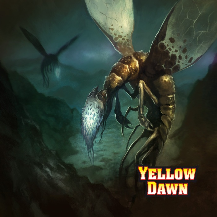 Mi-go fungi from yuggoth - mythos monsters in Yellow Dawn and in the sci fi supernatural thriller Oakfield by David J Rodger - image Borja