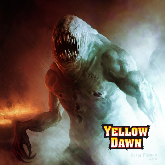 Monsters of H.P.Lovecraft start to invade Earth after the Mythos apocalypse Yellow Dawn by David J Rodger - art by Borja
