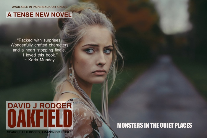 Oakfield a supernatural thriller set in Cornwall England by David J Rodger critics call it a gateway into science fiction and horror