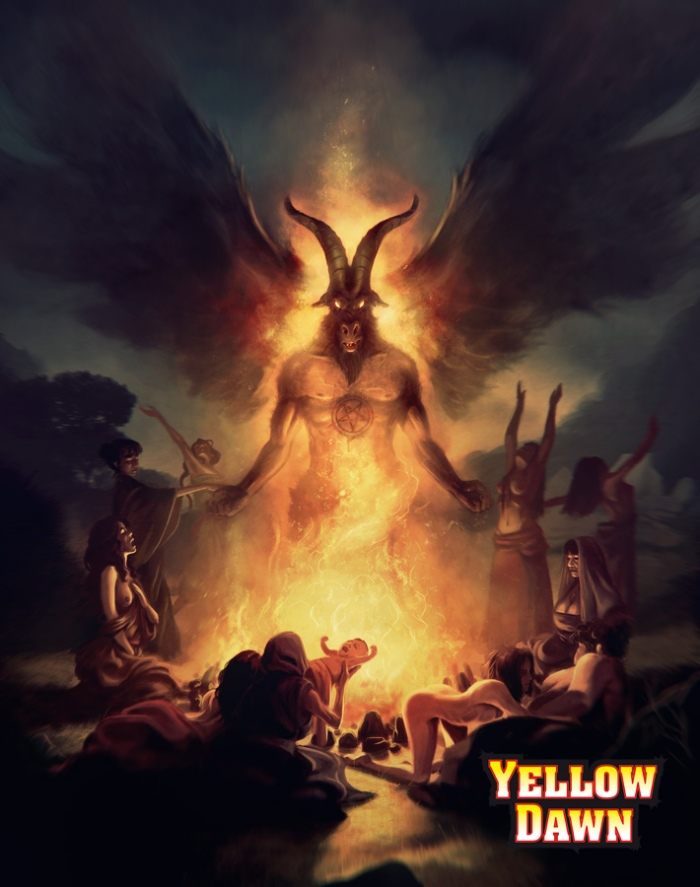 Post Apocalyptic Magick and Occult in Yellow Dawn The Age of Hastur by David J Rodger - image by Borja - all rights reserved