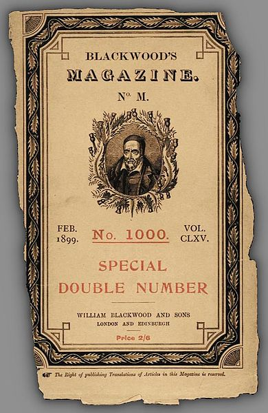 Blackwood's Magazine 1899 cover which featured  Joseph Conrad's Heart of Darkness in 3 parts