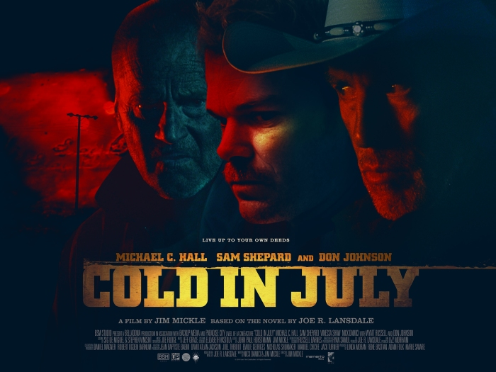 Cold in July (2014) movie review by David J Rodger - a hard edged cool as they come thriller Michael C Hall, Sam Shepard and Don Johnson