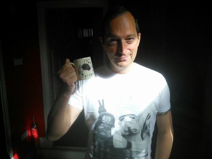 David J Rodger discovers a spider mug in Newcastle - Bullshot Crummond would be proud schpider - what schpider