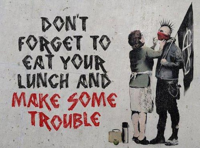 Don't forget to eat your lunch and make some trouble - mothers and sons punk anarchy