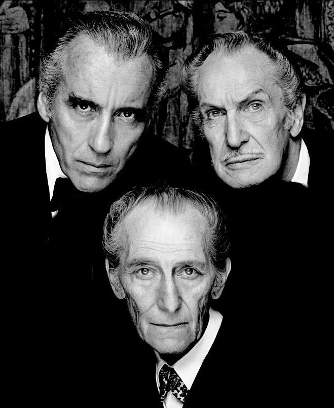 Faces of horror Christopher Lee Peter Cushing Vincent Price - masters of 20th Century horror movies