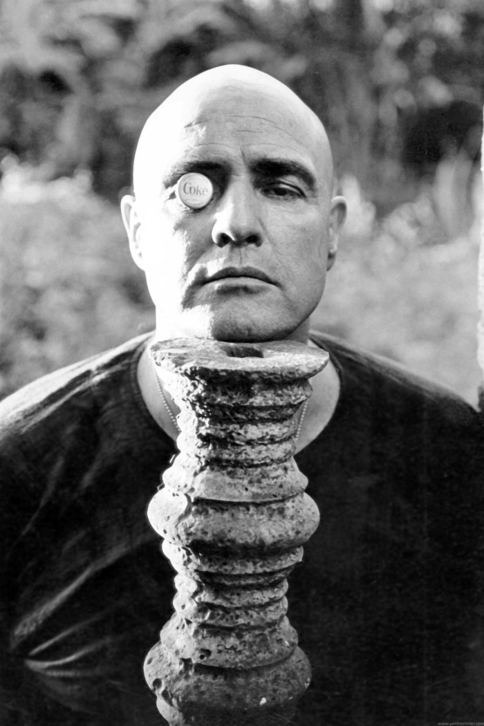 Marlon Brando as US Army Special Forces Colonel Walter E Kurtz - Apocalypse Now as based on Joseph Conrad's Heart of Darkness - the tyranny of corporate enterprise