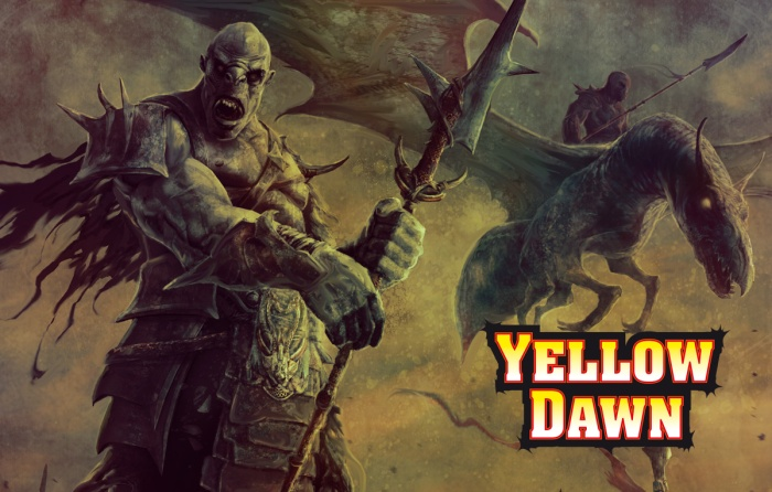 Warrior Orcs - mutated humans in the post-apocalyptic RPG Yellow Dawn - The Age of Hastur by David J Rodger - Image Jason Engle copy