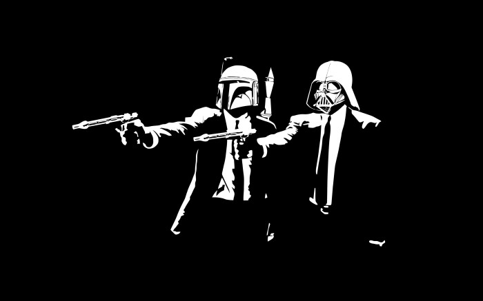 pulp fiction star wars wallpaper