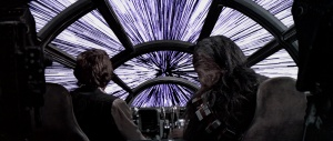 A missing scene from STAR WARS after the Millennium falcon jumped into hyperspace too soon