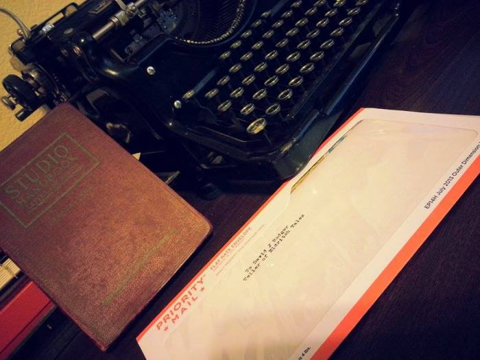 Correspondence for David J Rodger written on Underwood Standard vintage typewriter - very Cthulhu Mythos